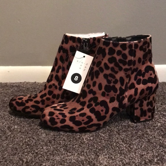 094b93ddc7a8 a new day Shoes | Leopard Print Ankle Boots New Size 8 | Poshmark